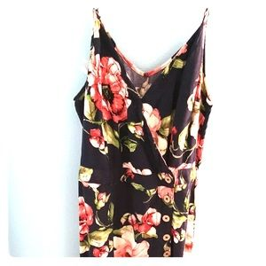 Merona floral button up sundress